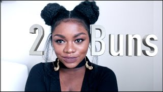 HOW TO | SPACE BUNS WITH EXTENSIONS + FAKE