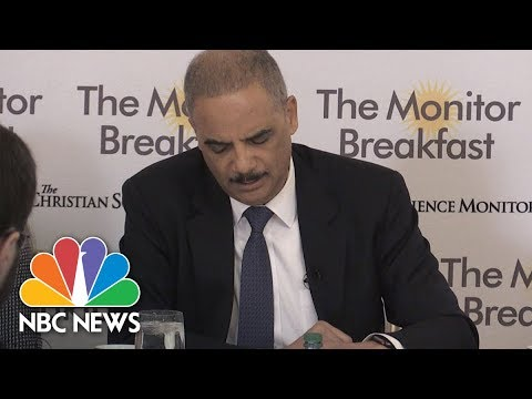 Former Attorney General Eric Holder: 2018 Elections Crucial For Future Redistricting | NBC News