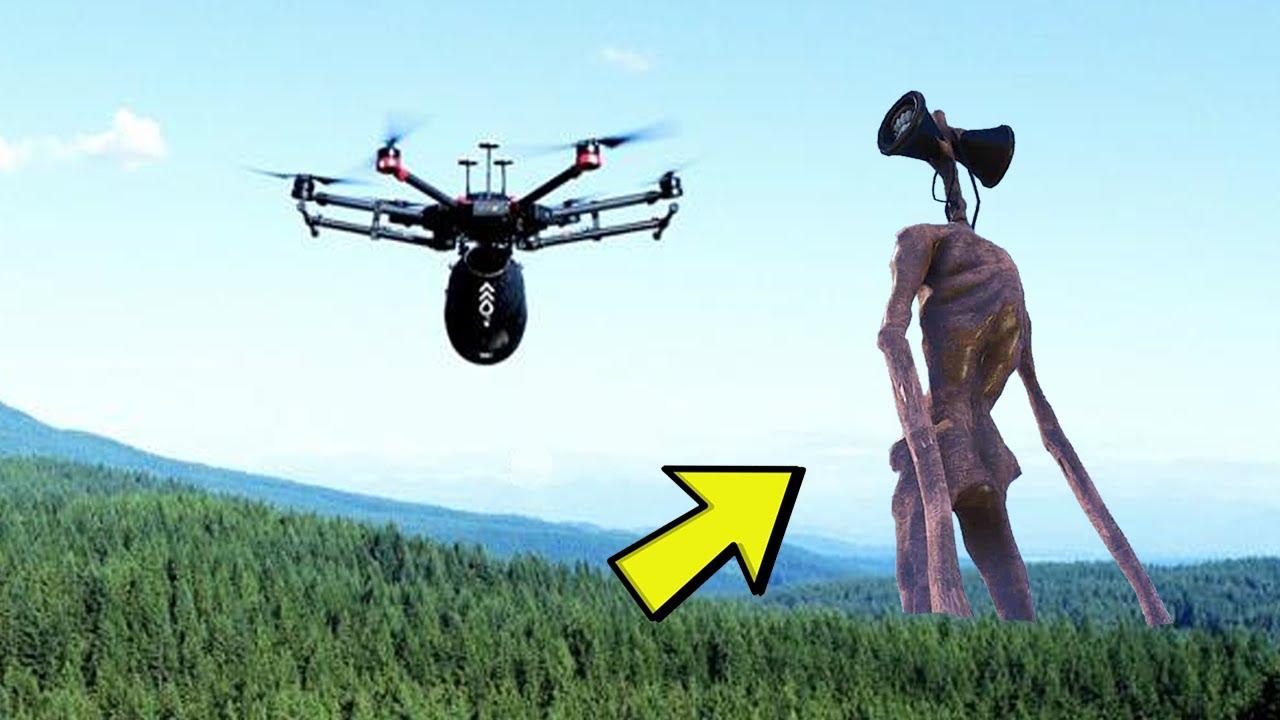 Download Drone Spots Siren Head and We Make a Siren Head Voodoo Doll