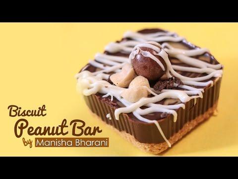 Biscuit Peanut Bars - No Bake Easy Peanut Butter Bars - Best Chocolate Dessert Bars Recipe