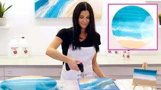 Resin Tutorial - Ocean Art For Beginners With Lacing