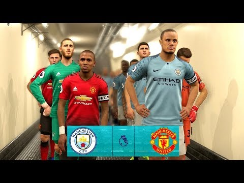 Manchester City vs Manchester United | EPL 11 November 2018 Gameplay