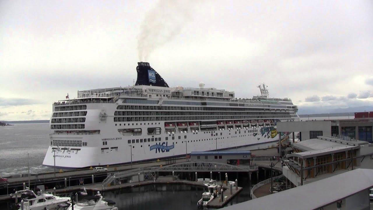 Norwegian Jewel Departs Seattle On May 25 2013 Youtube