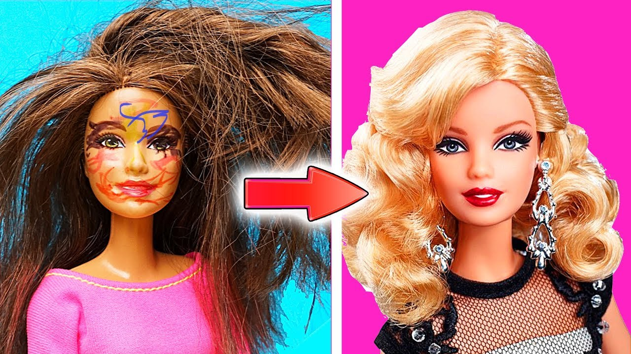 Diy Barbie Doll Hairstyles How To Make Barbie Hairstyle Creative Fun For Kids Youtube