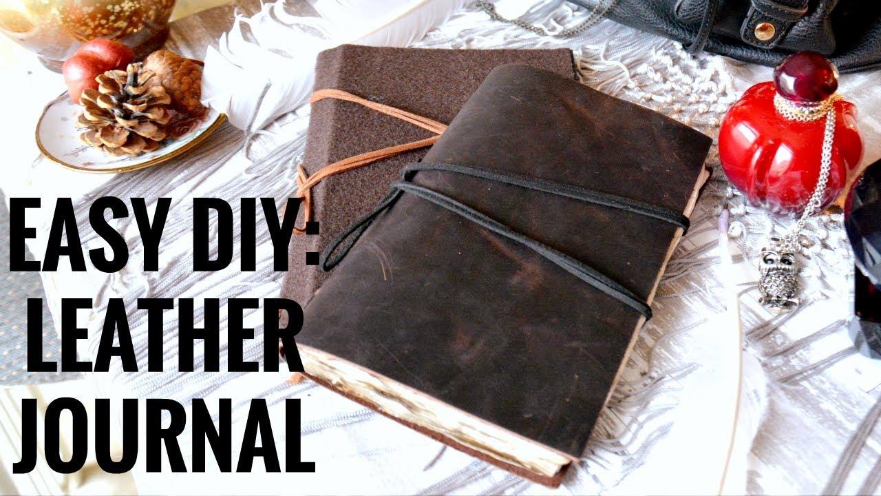 本革レザーでつくるノートの作り方。手縫いで初心者もかんたんDIY