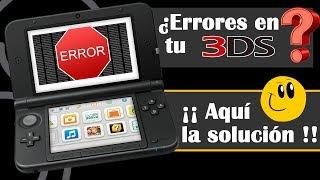 Nintendo 3DS. Se ha producido un error. Fallos y soluciones. Errores tarjeta SD