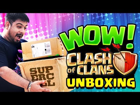 SPECIAL PACKAGE From ClashofClans!! + Surprise Giveaway! SUPERCELL Merchandise UNBOXING INDIA!!