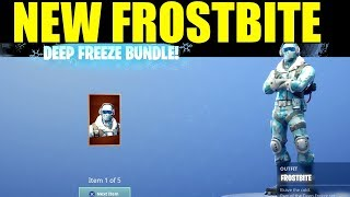 "Déverrouillage ""Frostbite"" New Deep Freeze Bundle In Fortnite battle Royale (Frostbite Skin Gameplay)"