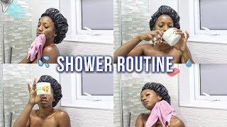 DRUGSTORE SHOWER ROUTINE! (Exfoliate, Feminine Hygiene, No Dry Skin, Skincare) | Annesha Adams