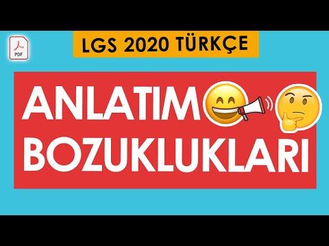 ANLATIM BOZUKLUKLARI #LGS2020