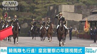 皇宮警察の年頭視閲式 護衛官が部隊ごとに行進(20/01/24)