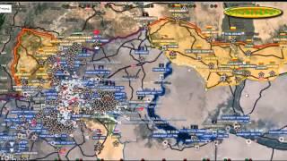 Обзор карты боевых действий в Сирии, Ираке и Йемене от 06 12 2015г