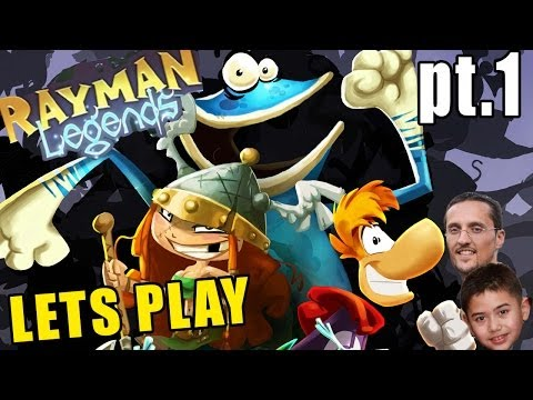 Let's Play Rayman Legends Pt 1: Once Upon a Time & Creepy Castle (Xbox One Commentary)