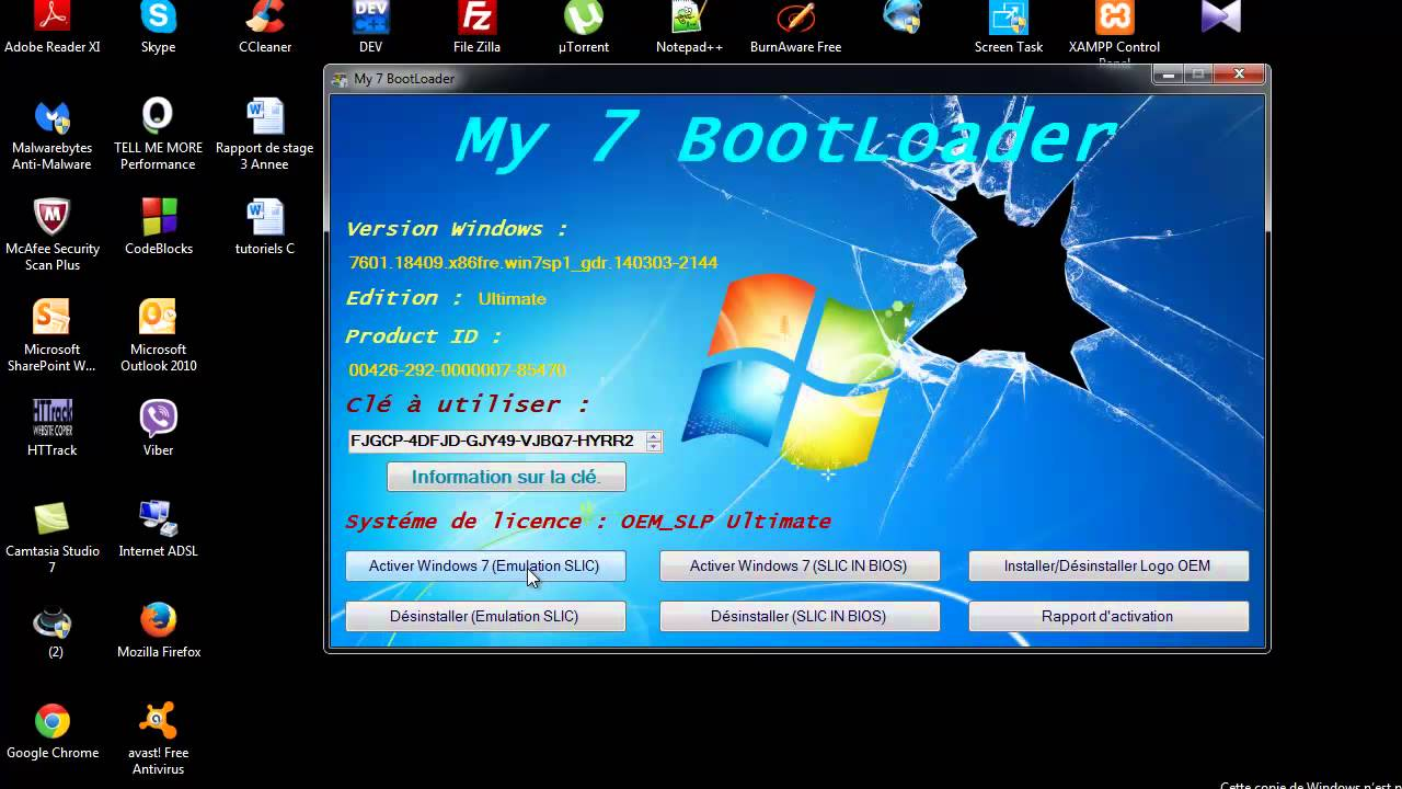 copie authentique windows 7 gratuit numero 7601