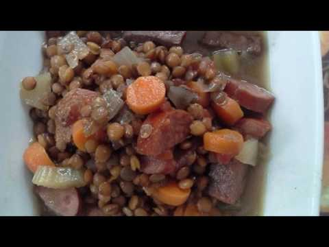 Recipe: Slow Cooker Lentils And Sausage