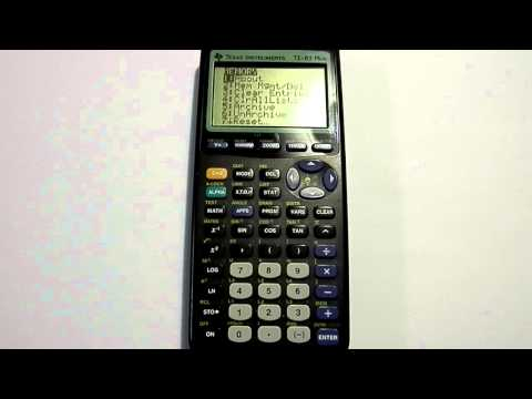 Clearing the memory on TI 83 and TI 84 Calculators