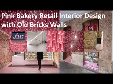Pink Bakery Retail Interior Design Ideas with Old Bricks Walls ...