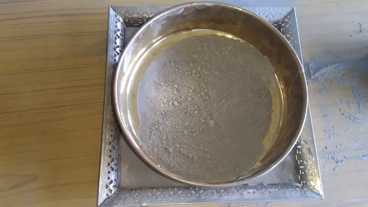 Fineness Test Of Cement In Hindi Youtube