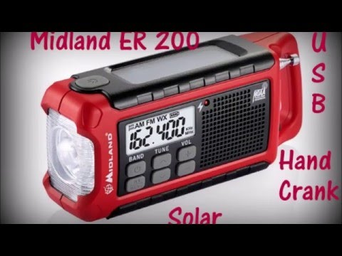 Emergency Weather Radio/Flashlight, Midland ER 200