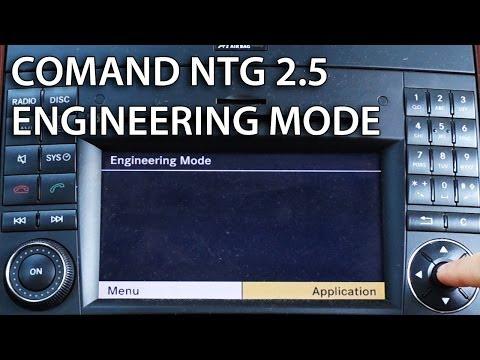 How to enter engineering mode in Mercedes COMAND APS NTG 2.5 (hidden secret service menu)