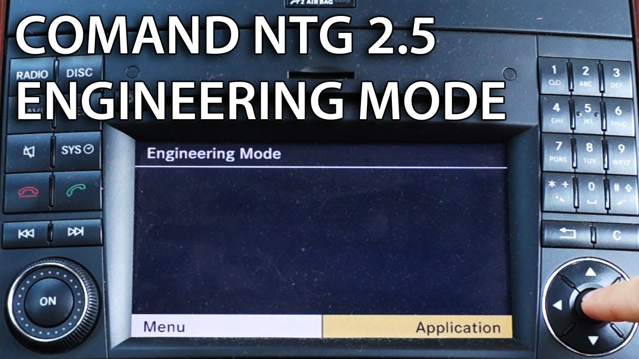 how to enter engineering mode in mercedes comand aps ntg 2 5 hidden rh youtube com