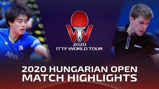 Masataka Morizono vs Bastien Rembert | 2020 ITTF Hungarian Open Highlights (FS)