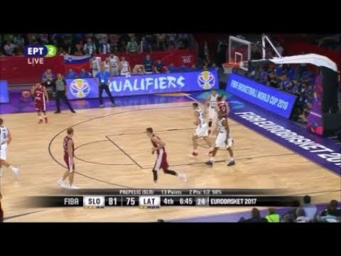 Slovenia vs Latvia 103-97 /Eurobasket 2017 Quarter-Final Highlights {12-9-2017}