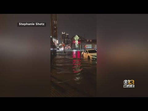 Rain From Severe Weather Floods Parts Of Baltimore Thursday Night