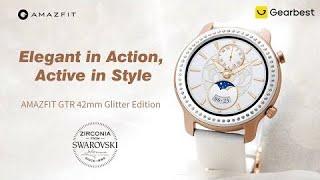 AMAZFIT GTR 42mm Smart Watch Glitter Edition Zirconia from Swarovski - Gearbest