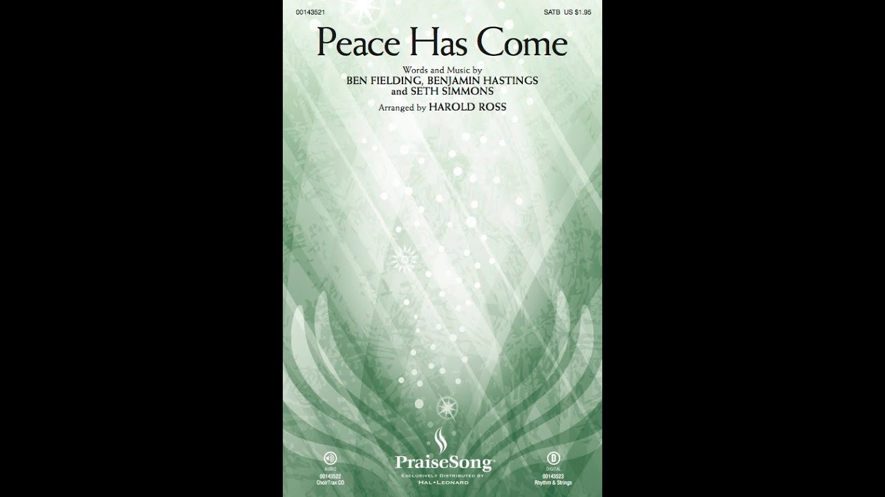 Peace Has Come Hillsong Worshiparr Harold Ross Youtube