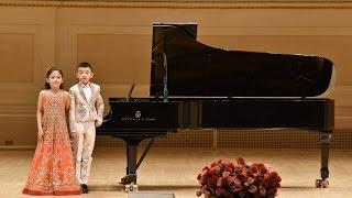 美国中文电视报告:王馨仪和张睿宏应邀在卡内基斯特恩主厅表演