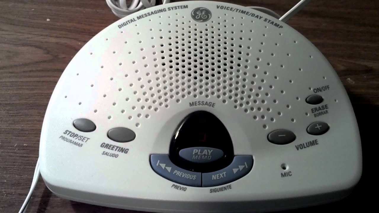 Ge Digital Answering Machine Youtube
