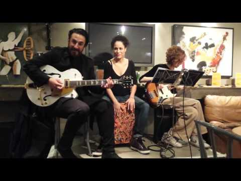 Gypsy trio doing the blues  (Mike 's  singing )