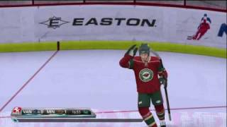 NHL 2K10 - Wild vs Canucks Gameplay Period 1
