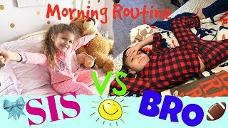 Boy vs Girl Morning Routine! Sister and Brother Opposites