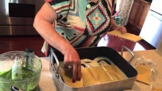Rafelina's Calabrese Kitchen - Pesto & Zucchini Lasagna