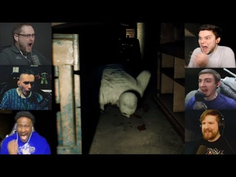 """Реакции Летсплейщиков"" на Призрака в Проходе из The Beast Inside Demo"