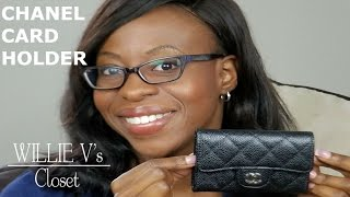 chanel classic flap o card holder small wallet caviar review