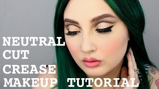 Brown Cut Crease Eyeshadow Tutorial / Jordan Hanz