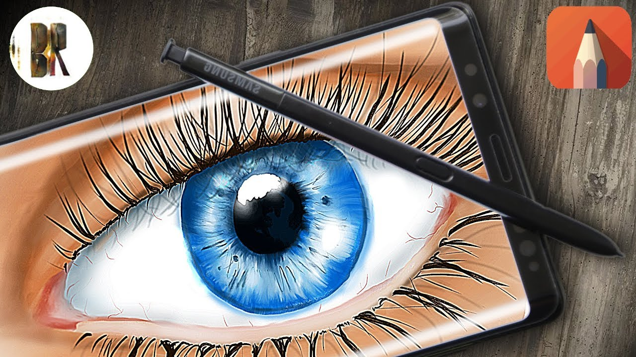 Drawing a eye with Note 9