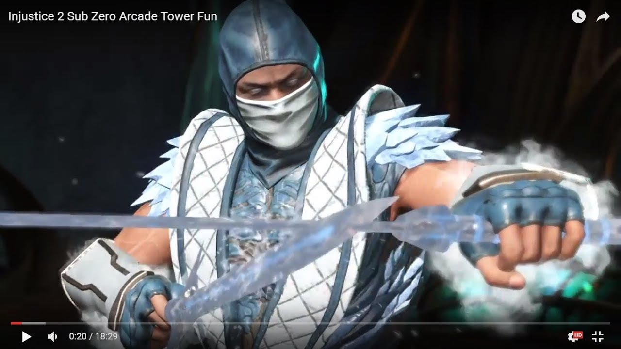 Injustice 2 Sub Zero Arcade Tower Fun Youtube
