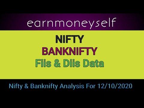 Download nifty banknifty analysis lI fiis diis data ll  lntraday trading tips for 12 October 2020 ll monday