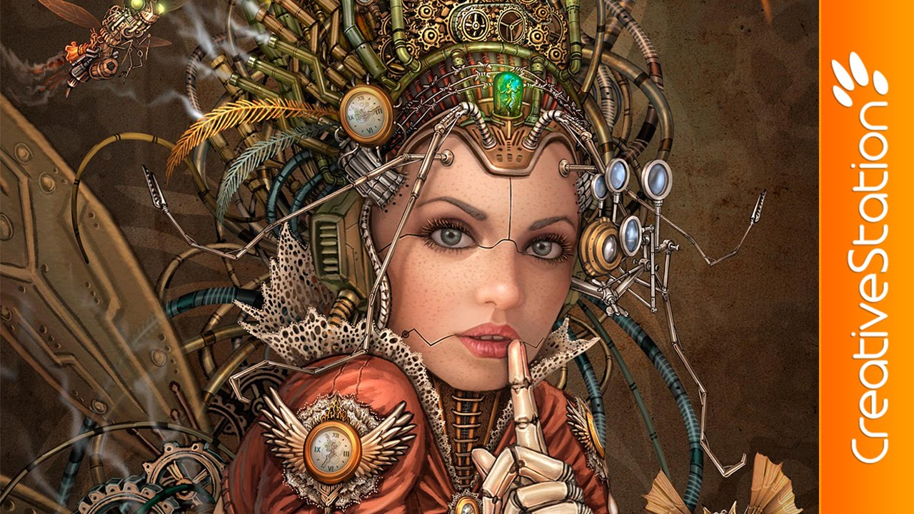 Need For Speed Girl Wallpaper Silence Please Steampunk Fairy Speed Painting