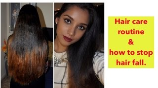 My hair care routine + home remedy to stop hair fall.