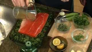 Salmon Over Greens