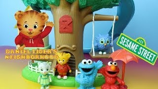 Daniel Tiger's Neighborhood 3-in-1 Transformation Treehouse Sesame Street Cookie Monster & Elmo