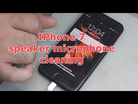 IPhone 7 speaker microphone cleaning