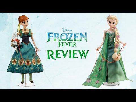 Elsa/Anna Doll -Frozen Fever Review ITA