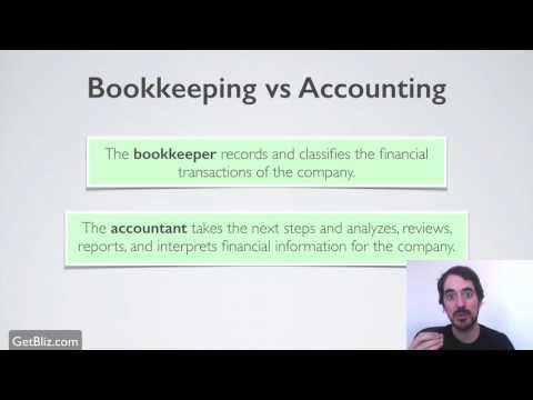 Bookkeeping vs Accounting
