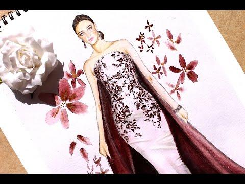 Fashion Illustration - Ralph & Russo haute couture fall 2016   Nina Mid Illustrations